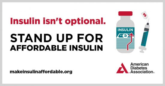 Stand up for affordable insulin poster