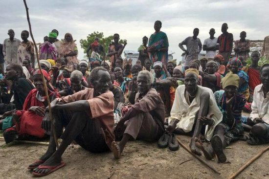 Image of displaced South Sudanese