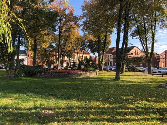 Town square of Zarnowiec, Poland, where my grandfather was born.