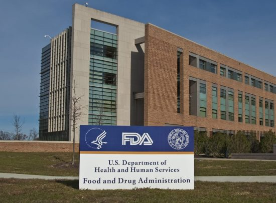 FDA building with sign