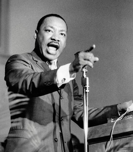 Dr. Martin Luther King, speaking in Selma, Alabama, in 1965.