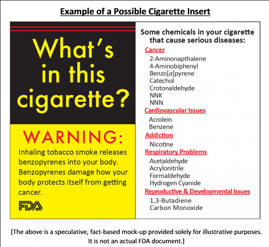 Example of a possible cigarette insert