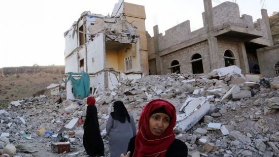 Destruction in Yemen.