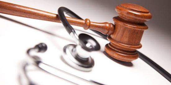 gavel with stethoscope