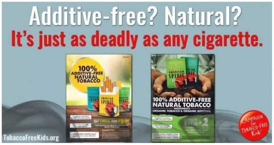 Additive-free? Natural? It's just as deadly as any cigarette