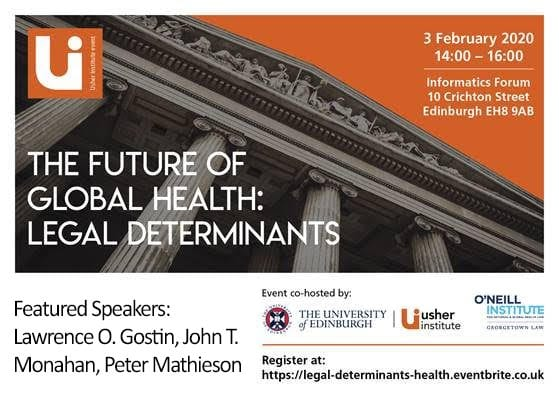 The Future of Global Health: Legal Determinants Event Flier