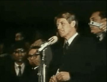 Robert F. Kennedy's delivers remarks following assassination of Martin Luther King, Jr.
