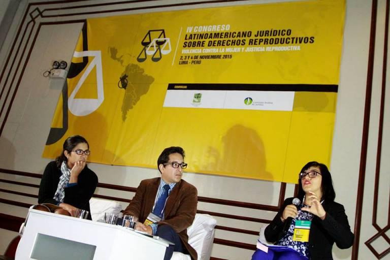 Panelists at Congreso Derechos Humanos