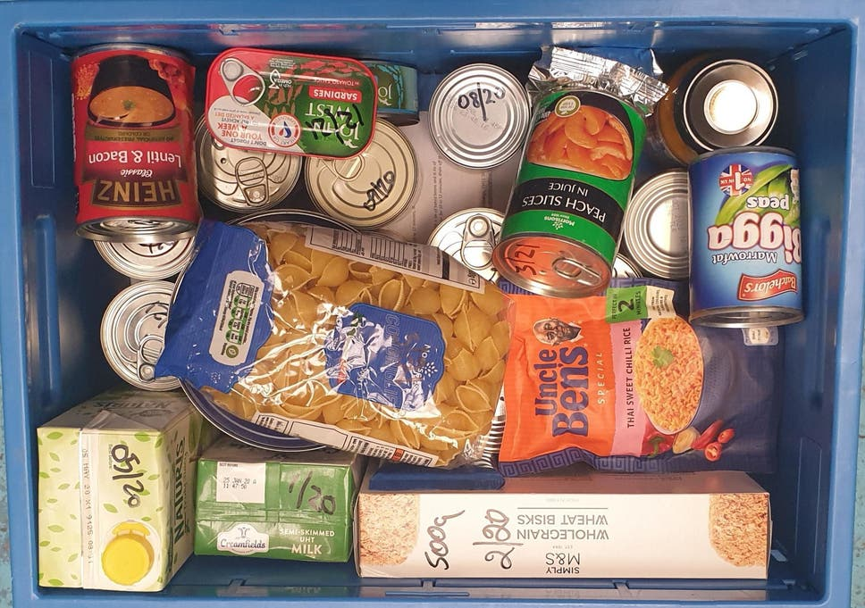 Pictured: a box with basic supplies, which forms part of the pack given to people experiencing an emergency