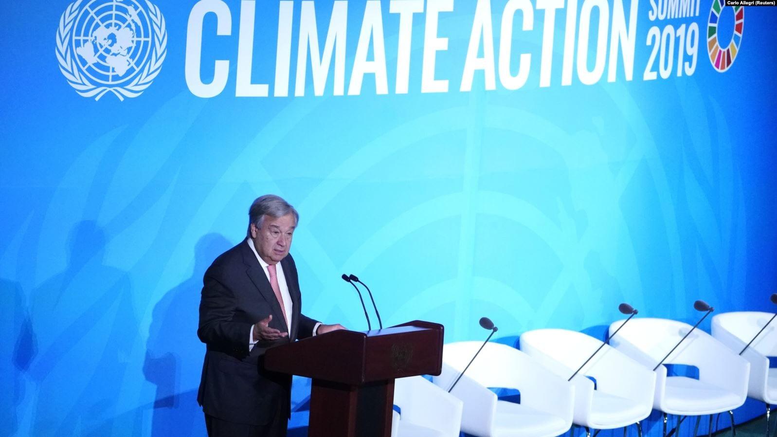 Antonio Guterres Speaking at the UN Climate Action Summit 2019