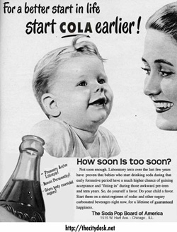 soda ad targeted at children