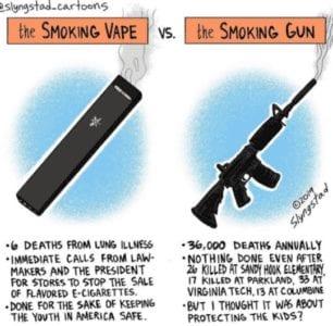 the smoking vape vs the smoking gun