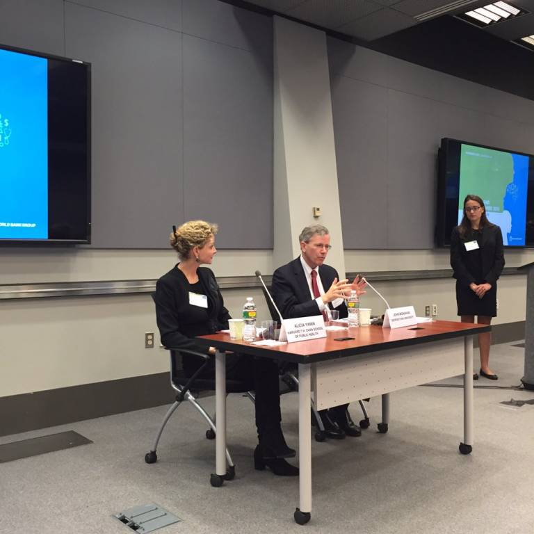 Alicia Ely and John Monahan at the World Bank's Law, Justice and Development Week program