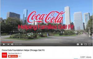 A Coca-Cola Foundation advertisement
