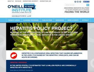 Screenshot of website header