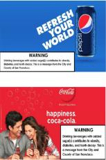 Pepsi and Coca Cola ads