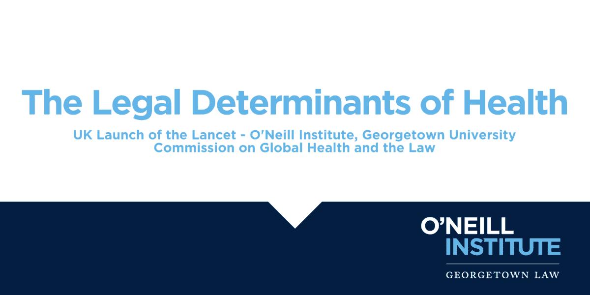 The legal determinants of health UK Launch flier