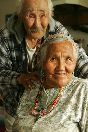 Old indigenous couple