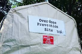 Image of an overdose prevention site