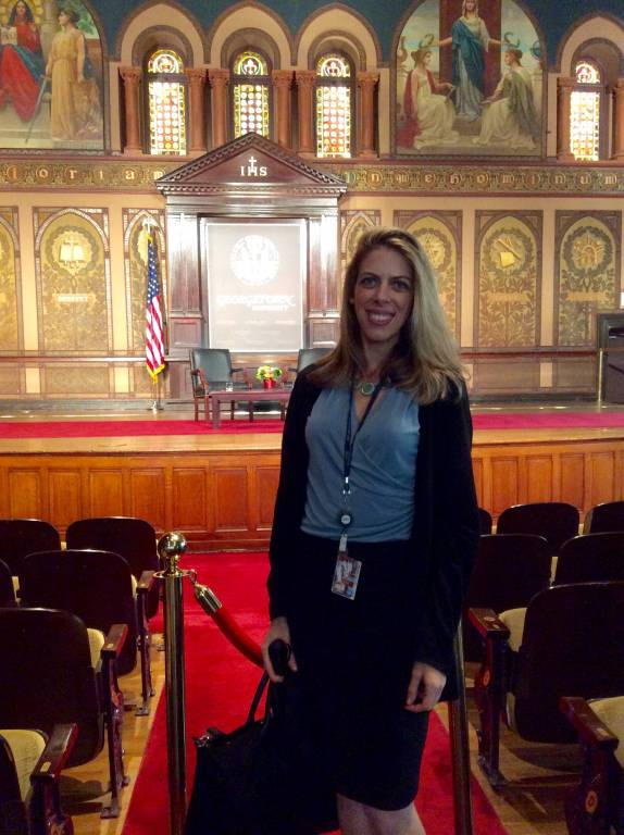 Photo of Rebecca Donsky at the Georgetown event