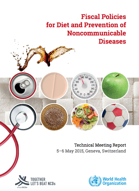 Fiscal Policies for Diet and Prevention of Noncommunicable Diseases Report Cover