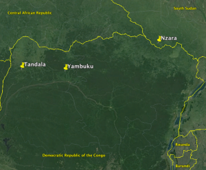 Map of the First Three Ebola Outbreaks.
