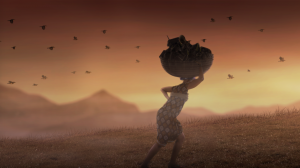 Woman migrating