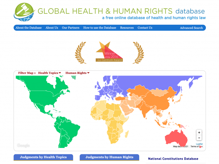 Global Health and Human Rights Database Landing Page