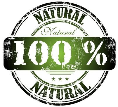 100% natural food label