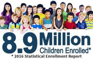 8.9 million children enrolled