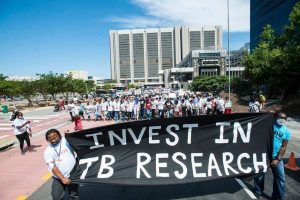 Protest for TB Research
