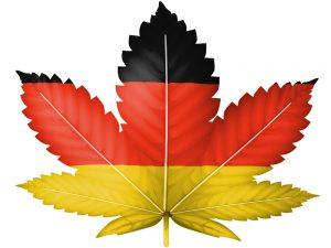 Marijuana with Germany print