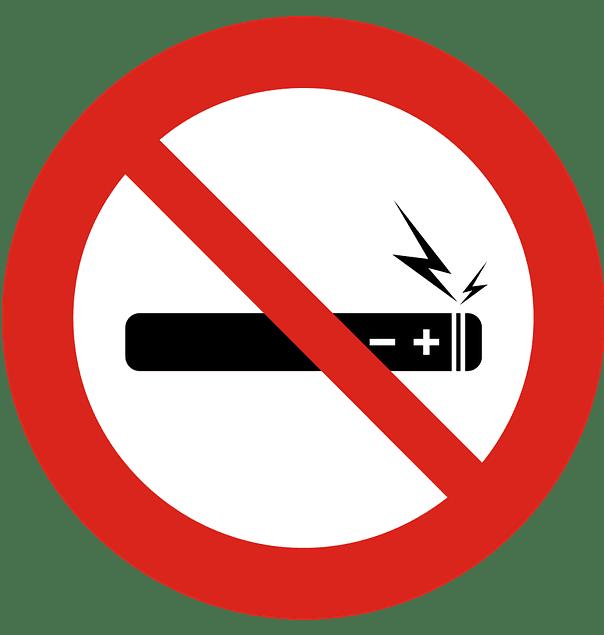No e-cigarettes sign