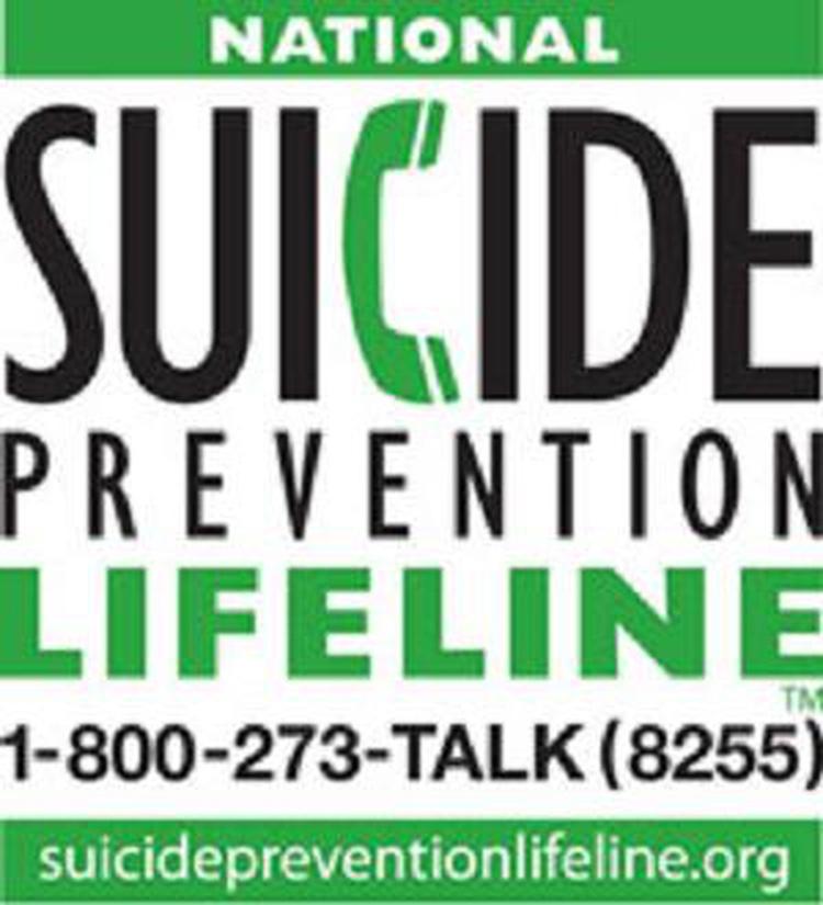 National Suicide prevention lifeline poster