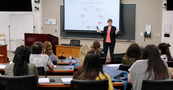 Sarah Roache Teaching a Class